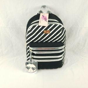 Luv Betsey  Striped Black White Striped Panda Tag